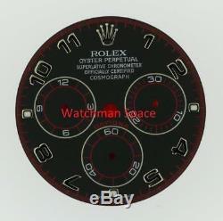 Original Men's Rolex Daytona 116519, 116509 Black Racing Dial 18KW Gold #A15