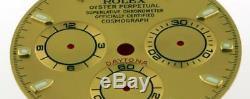 Original Men's Rolex Daytona 116523, 116528 Champange Stick Dial 2/T #A21