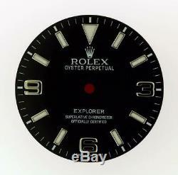 Original Men's Rolex Explorer 214270 39mm Black Luminous Arabic Dial S/S #G7