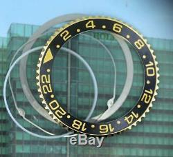 Original Men's Rolex GMT-MASTER II 40mm 116713 116718 Black&Gold 18KY Bezel #F16
