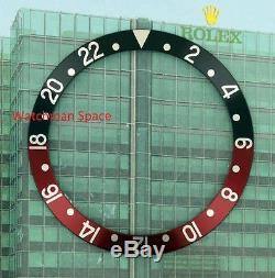 Original Men's Rolex GMT-MASTER II Black & Red Insert S/S 16700,16750,16760 #D68