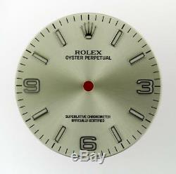 Original Men's Rolex Oyster Perpetual 116000 Silver Stick, Arabic Dial S/S #B3