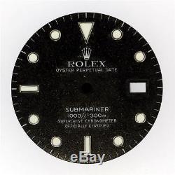 Original Men's Rolex Submariner 16800 16610 Gilt Black Tritium Dial S/S #S13