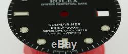 Original Men's Rolex Submariner Date Gloss Black Dial 16800 16610 S/S #D46