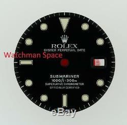 Original Men's Rolex Submariner Date Gloss Black Dial 16800 16610 S/S #D48