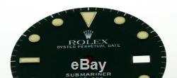 Original Men's Rolex Submariner Date Gloss Black PATINA Dial 16800 16610 S/S #A2