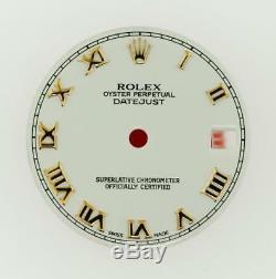 Original Rolex Midsize Datejust 31mm 178271 Gloss White Roman Dial 2/T Pink #K16