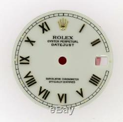 Original Rolex Midsize Datejust 31mm 68273 68278 Gloss White Roman Dial 2/T #E41