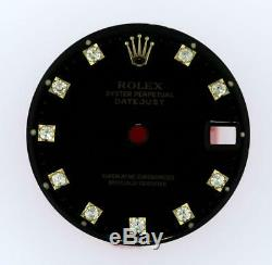 Original Rolex Midsize Datejust 68273, 68278 Gloss Black Diamond Dial 2Tone #W4