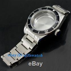 P708 ETA 2836/2824, Mingzhu 2813, Miyota 82 series Kit 41mm Watch Case+Black Bezel
