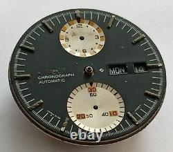 Parts Watch Seiko Chronographs 6138 Dial Ufo And Movement Working