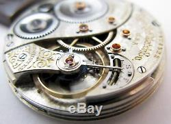 Pocket Watch Elgin 12s movement 19 jewels adj. For parts. OF 24 & 12 Hour dial