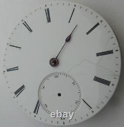 Quality Pocket Watch Movement HC for parts. Diam 45.7 mm Wolf tooth
