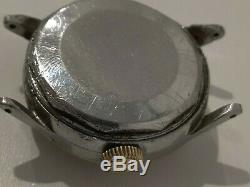 RARE MOVADO 1940's TRIPLE DATE AUTOMATIC BUMPER WATCH FOR PARTS OR REPAIR