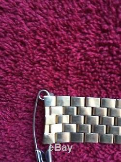 RARE OMEGA REF1040 GOLD PLATED 22 LINKS BRACELET 518 END PIECES 19 mm WIDE