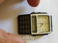 RARE Vintage Analog Digital Calculator Watch Casio ABC-30 MODULE 2332 working
