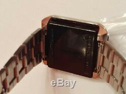 RARE Vintage SYNCHRONAR Solar 1970s LED Digital Watch Untested for parts or fix