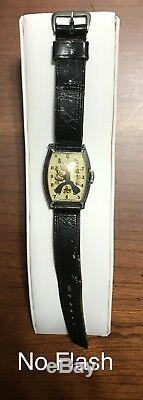 Rare 1935 Popeye New Haven Wrist Watch King Features Sydicate Not Working