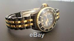 Rare HEUER 1000 Women's Gold & SS Watch. Not working