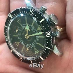 Rare Orologio Watch Chronograph Vintage For Parts Diver Sub Anni 70