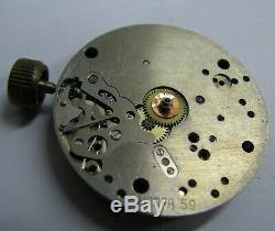 Rare Urofa 59 Tutima Fleiger Chronograph Vintage Watch Movement Dial Hands AS IS