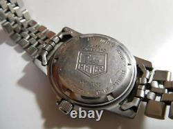 Rare! VIntage Tag Heuer 1500 Men's Watch 959.713G Gray Dial for Parts or Repair