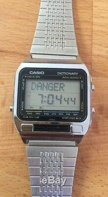 Rare Vintage Casio TE-2500 Digital Dictionary Translator Watch