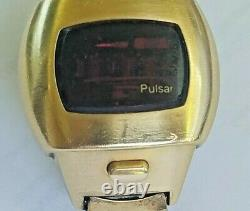 Rare Vintage LED Pulsar Watch 14k gold filled. Not working, free shipping