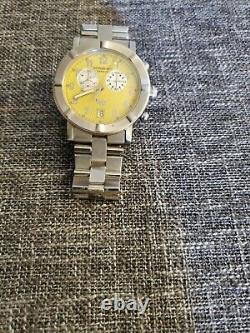 Raymond Weil Geneve W1 Chrono 8000 Men's Watch Sapphire Crystal Not Working