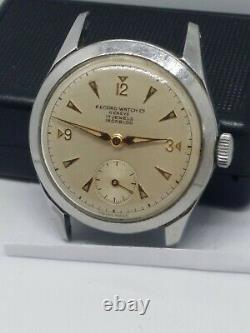 Record Watch Co Genève 022 K Military Radium Dial vintage Not Working #wmn1