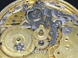 Repeater pocket watch movement for parts or repair