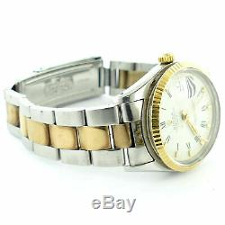 Rolex 1981 Date 15000 White Dial 2-tone Gold+s. S. Mens Watch For Parts/repairs