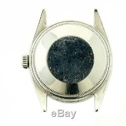 Rolex 6535 Datejust 1972 Black Dial S. S. Head Watch For Parts Or Repairs