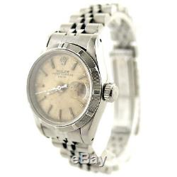 Rolex 69190 Ladies Vintage Oyster Perpetual Date Water Damaged Dial Ss Watch