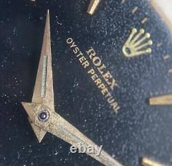 Rolex Black Gilt Dial Butterfly Movement Calibre 1560