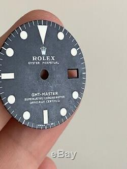 Rolex GMT Master 1675 black Mark II Dial For Vintage Watch Mark 2 For Parts