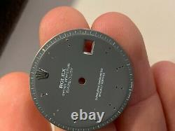 Rolex Grey Dial for Vintage Datejust Watch 1600 1601 Pie Pan For Parts
