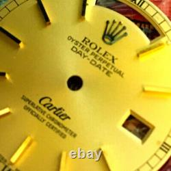Rolex Oyster Perpetual Double Name Cartier Day-Date Dial CAL3055 / 3155 tk452