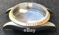 Rolex Ref 16013 Stainless case & case back 18k Bezel, crown, For 36MM