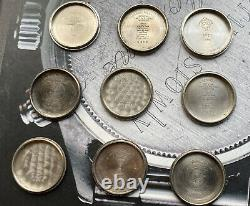Rolex Used Case Back Lot For Vintage Watch