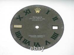 Rolex Wimbledon Grey Dial green roman numerals 116333 quadrante cadran