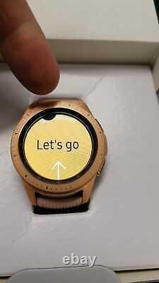 Rose Gold Samsung Galaxy Watch Bluetooth Smart Watch UK Version SM-R810 X