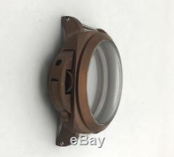 Seagull 47mm PAM 316l stainless steel watch case Parnis eta 6497 6498 movement