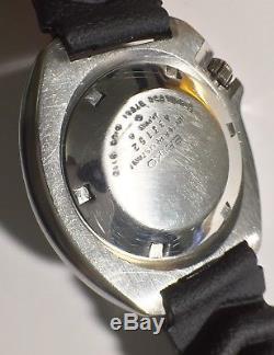 Seiko 6105 8110 Capt Willard Hacking 6105B Japan Made Original Sept. 1974 Good