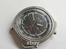 Seiko Automatic Chronograph 6139B Watch for Repair or Parts Uhr-Reloj-Montre