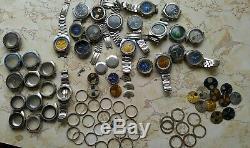 Seiko Chronograph Fabulos Lot 6138, 6139 Bullhead, Hulk, UFO, Pepsi, Parts