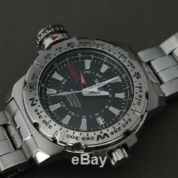 Seiko SLT095 Mile Marker Map Watch 8F56-00J0 Needs Battery Men's Wristwatch