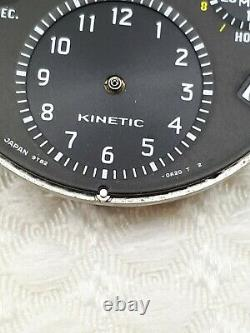 Seiko Sportura Kinetic 9t82-oa20 Chrono 38 Jewels Mens Watch For Repair Or Parts