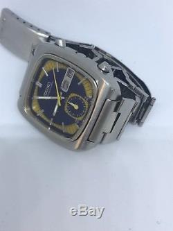 Seiko Vintage Rare 7016/5011 Monaco 1970s rare dial colour