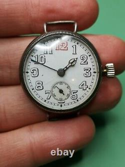 Silver Cased WWI Trench Watch for Restoration Screw Case, Marvin 362 (K23)